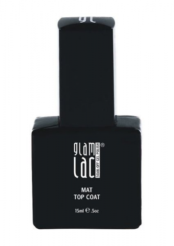 GlamLac Gel Polish - Matte Top Coat 15ml